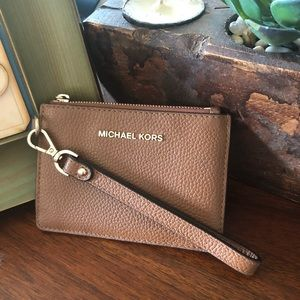 Michael Kors Small Leather Coin Purse Wristlet